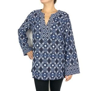 Vince Camuto Long Sleeve V Neck Tunic Top Size M